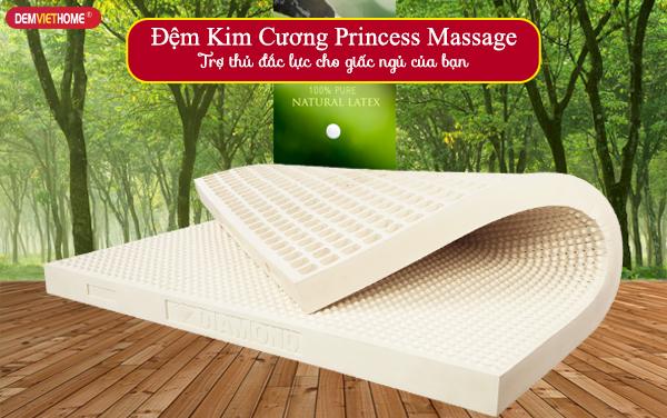 Đệm cao su thiên nhiên xuất khẩu Princess Massage