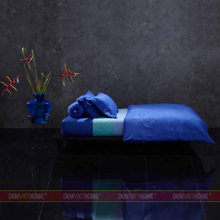 Bộ Chăn Ga Gối Lotus Culture Monaco Vista Blue LI-C-M01