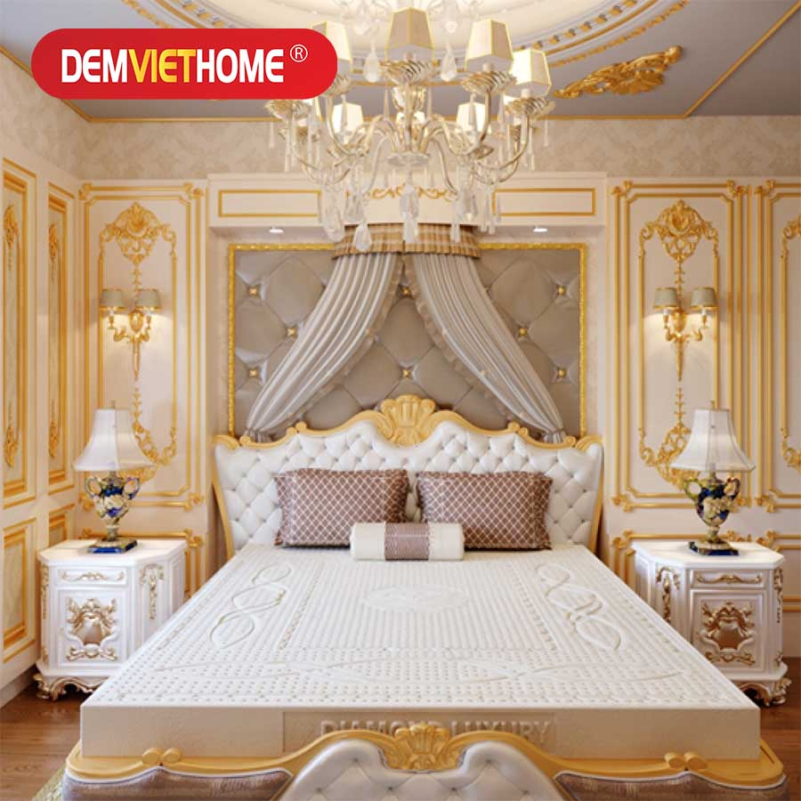 Đệm Cao Su Kim Cương Princess Diamond Luxury
