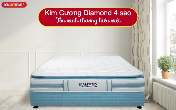Đệm lò xo Kim Cương Diamond 4 sao