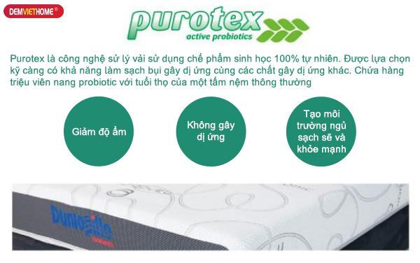 Công nghệ PuroTex cho đệm Dunlopillo