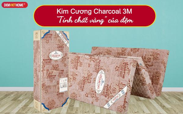 Đệm bông ép Kim Cương than hoạt tính Charcoal 3M