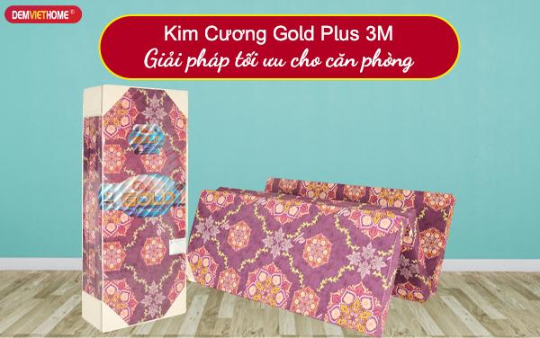 Đệm bông ép Kim Cương Gold Plus 3M