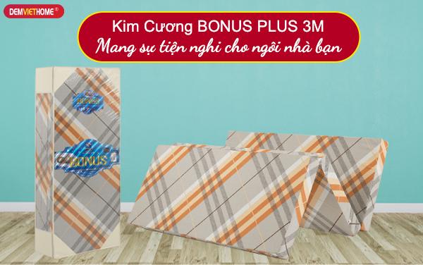 Đệm bông ép kim cương Bonus Plus 3M