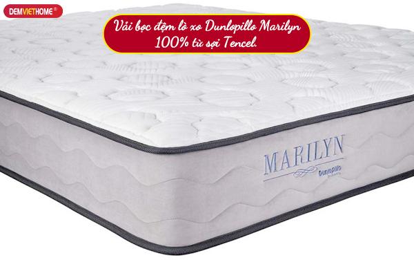 Vải bọc đệm lò xo Dunlopillo Marilyn 100% từ sợi Tencel