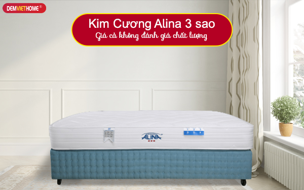 Đệm lò xo Kim Cương Alina 3 sao