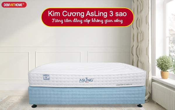 Đệm lò xo Kim Cương Asling 3 sao