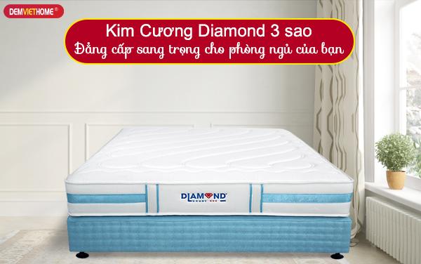 Đệm lò xo Kim Cương Diamond 3 Sao