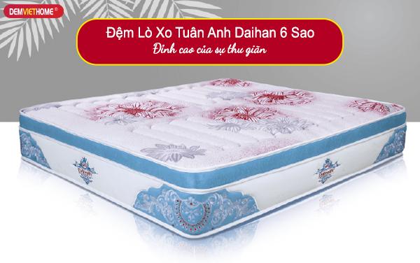 Đệm Lò Xo Tuấn Anh Daihan 6 Sao